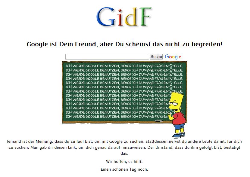Screenshot von gidf.de