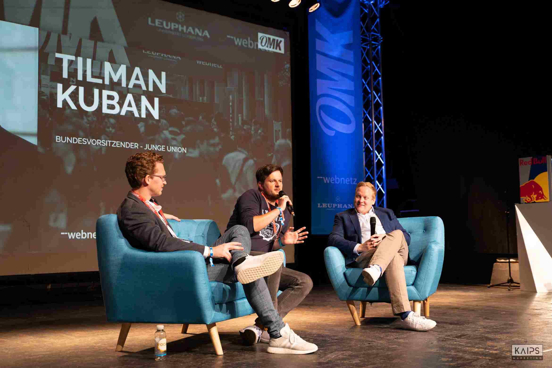 Martin Fuchs, Patrick Pietruck und  Tilman Kuban auf der OMK in Lüneburg