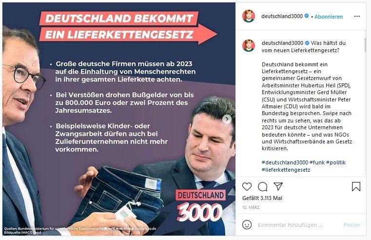 Der Instagram-Account deutschland3000