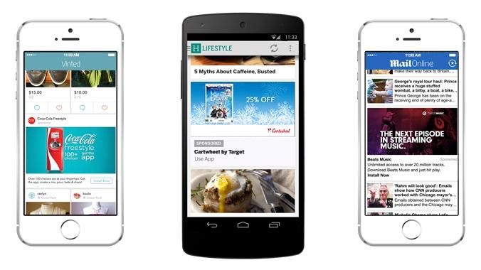 drei Smartphones mit offenem Screen