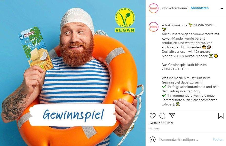 Frankonia Gewinnspiel Instagram