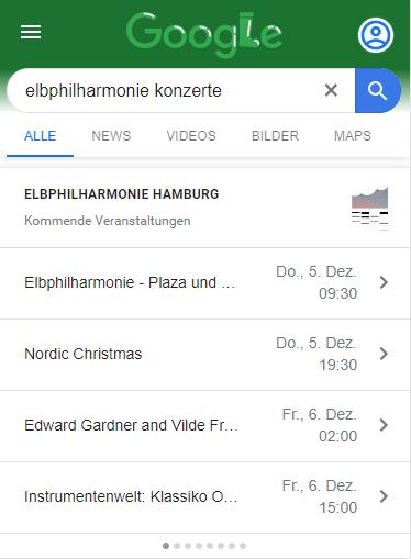 Screenshot Google Rich Snippet