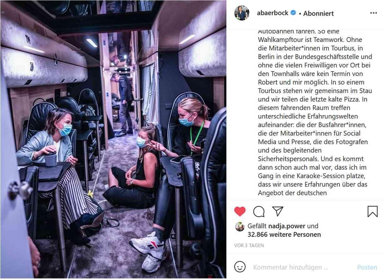 Instagram-Beitrag von Annalena Baerbock