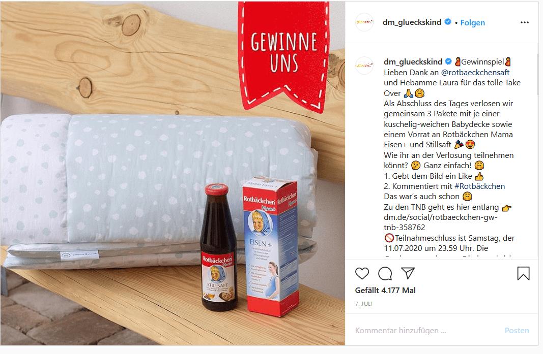 Rotbäckchen Gewinnspiel auf Instagram