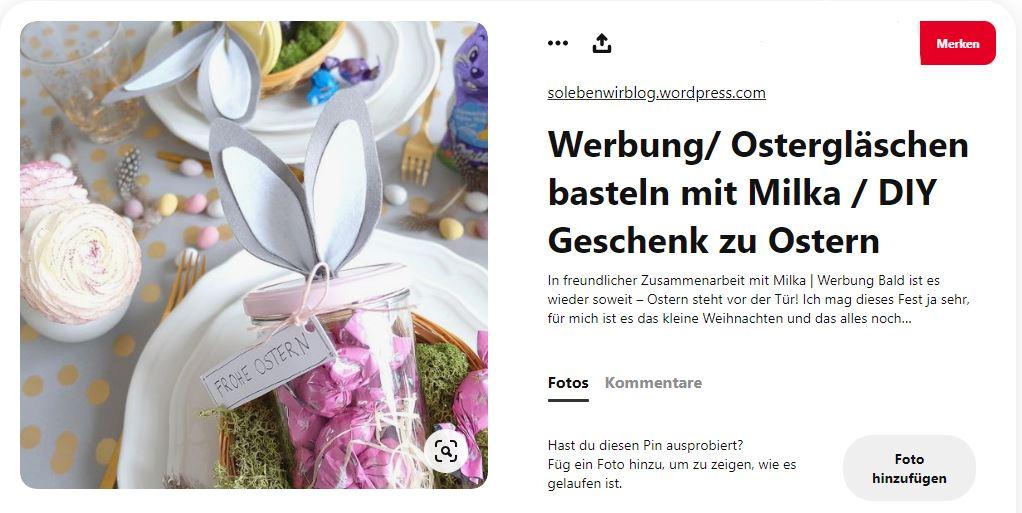 Tisch mit Oster-Deko