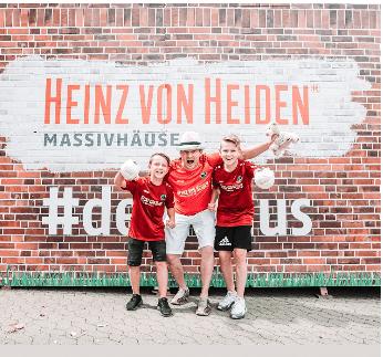 Heinz von Heiden Massivhäuser und Fußballfans