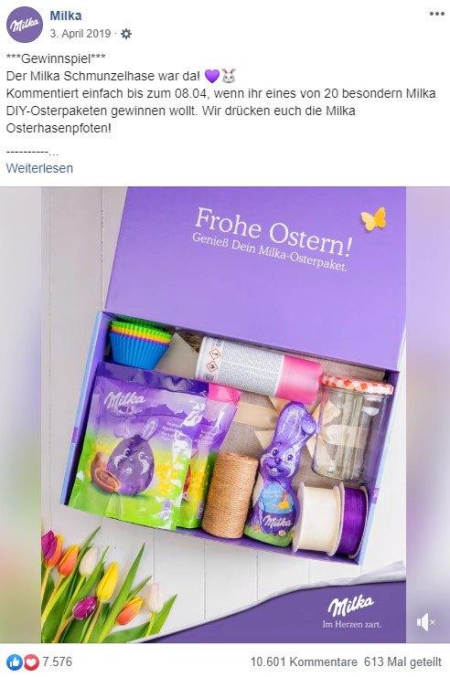 Osterhasen Box von Milka