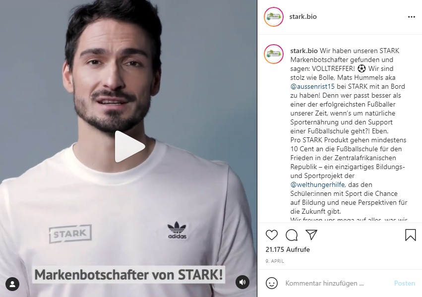 Screenshot Instagram-Profil stark.bio