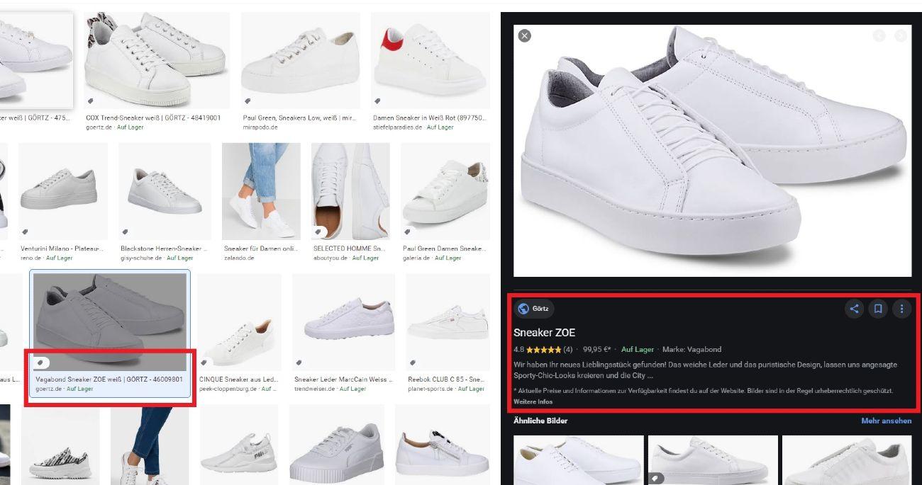 Suchergebnisse der Google Bildersuche mit dem Suchbegriff weiße Schuhe