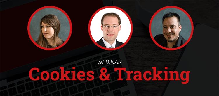 Webinar-Banner Cookies und Tracking