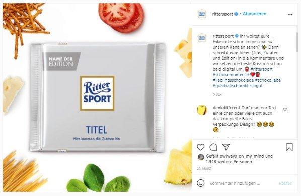 Ritter Sport auf Instagram