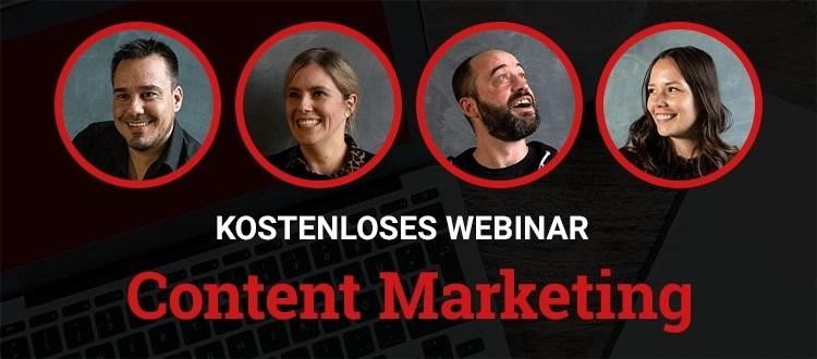 Kostenloses Webinar zum Thema Content Marketing