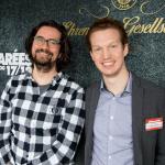 Geschäftsführer Patrick Pietruck mit Martin Drust auf der OMR