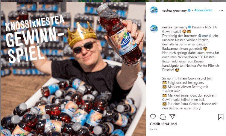 Instagram-Beitrag von Nestea