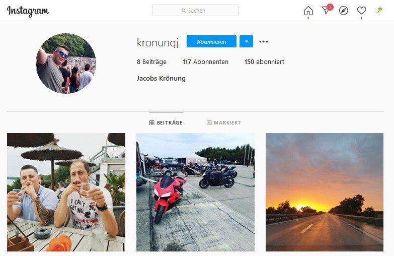 Instagram Profil von @kronungj