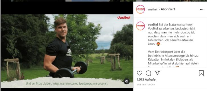 Instagram Videobeitrag Voelkel