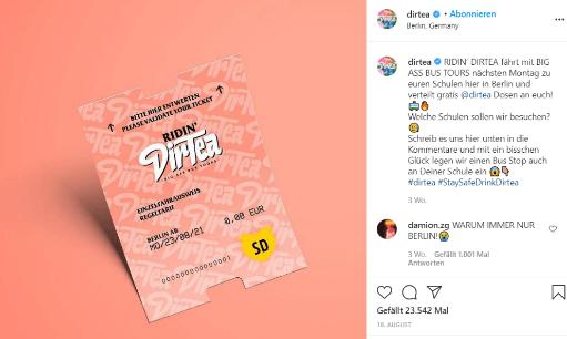Instagram-Beitrag Dirtea