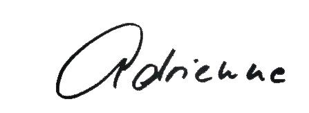 Unterschrift Adrienne