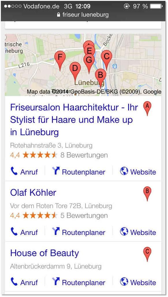 Suche: Friseursalon