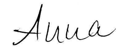 Unterschrift Anna