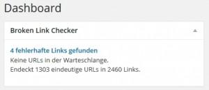 Mit dem Broken Link Checker 404-Links ausfindig machen