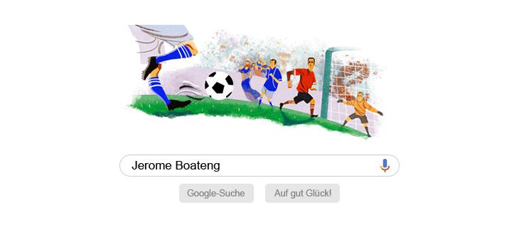 Googlesuchseite mit Jerome Boateng