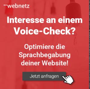 Interesse an einem Voice-Check? Wir optimieren die Sprachbegabung deiner Website! Jetzt web-netz anfragen