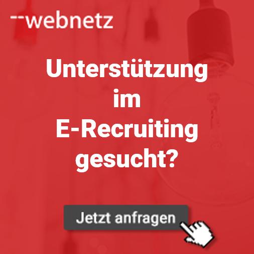 Unterstützung im E-Recruiting gesucht? web-netz hilft