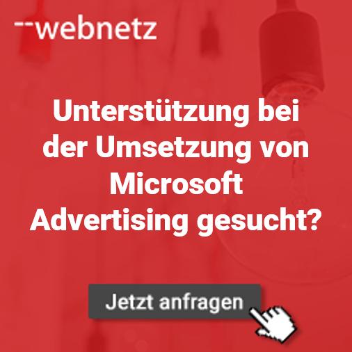 Unterstützung Microsoft Advertising