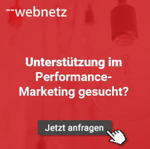 Unterstützung im Bereich Performance-Marketing gesucht? web-netz unterstützt.