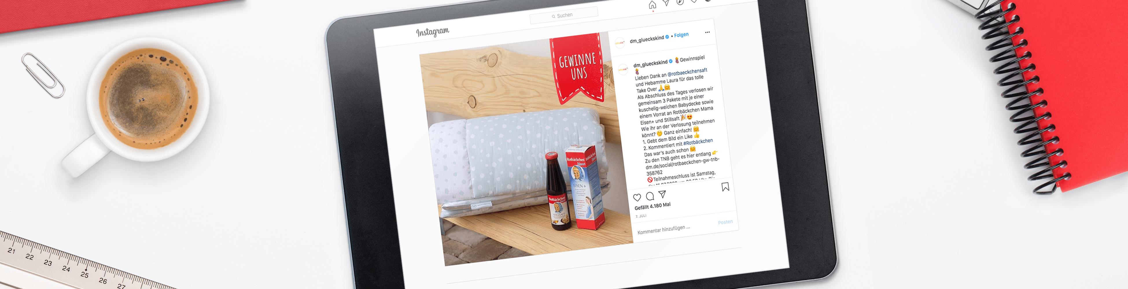Instagram Page von Rotbäckchen