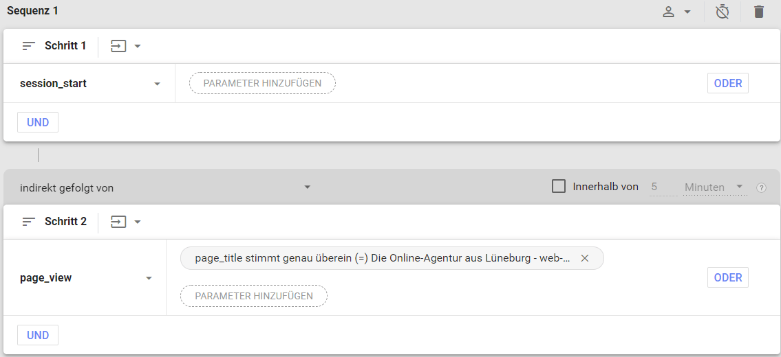 Screenshot von Google-Analytics