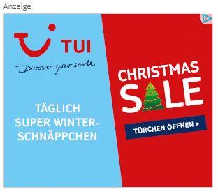 Beispiel TUI-Banner