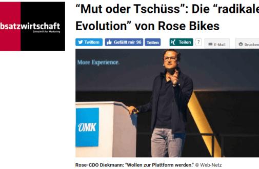 """OMK 2019: """"Mut oder Tschüss"""": Die radikale Evolution von ROSE Bikes – """"absatzwirtschaft"""""""