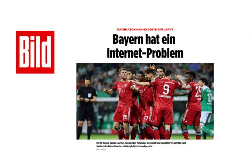 """web-netz entlarvt: Der FC Bayern München hat ein Internet-Problem – """"bild.de"""""""
