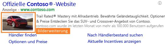 Bing-Anzeigenerweiterung: Bild-Erweiterung