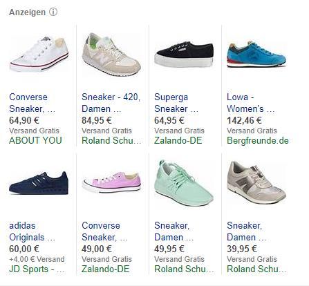 Bing-Shopping-Anzeigen