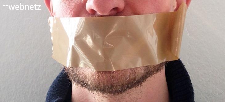 Mund zugeklebt