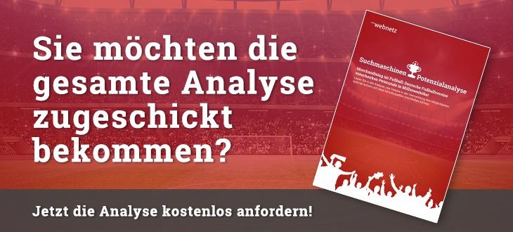 Info, sich die Bundesliga-Analyse kostenlos zuschicken zu lassen