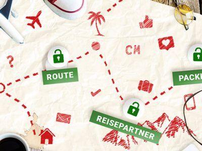 Route auf einer Karte