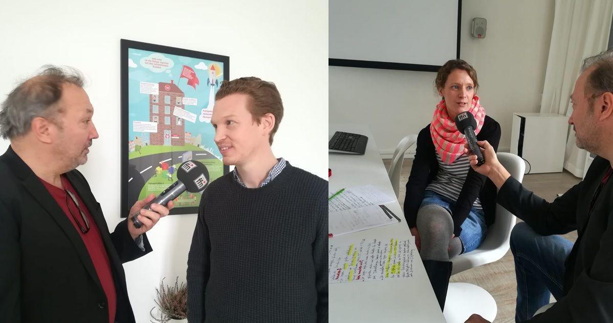 Geschäftsführer Patrick Pietruck und Janine Boldt im Interview mit FFN