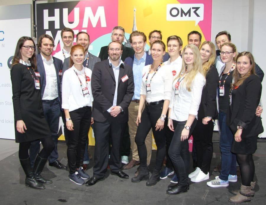 web-netz-Team auf dem OMR-Festival 2017