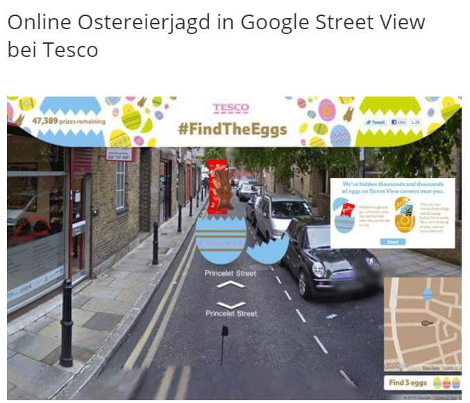 Ostereiersuche in Google Street View