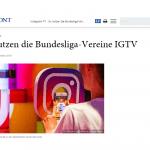 """web-netz sports – So nutzen die Bundesliga-Vereine Instagram TV – """"HORIZONT"""""""