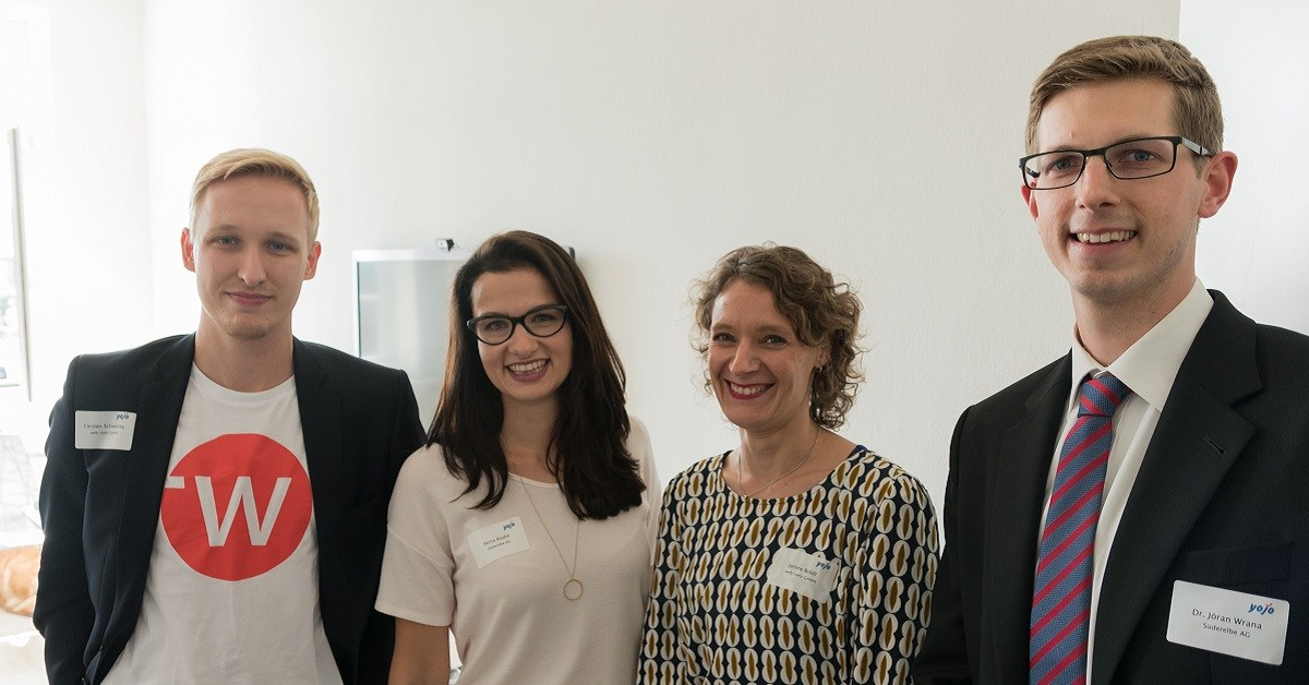 Gruppenfoto Organisatoren (web-netz & Süderelbe) 1. HR-Talk Lüneburg