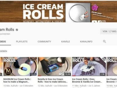 Ice Cream Rolls YouTube Channel