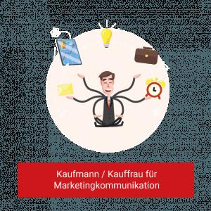 Schaubild zur Ausbildung als Kaufmann / Kauffrau für Marketingkommunikation