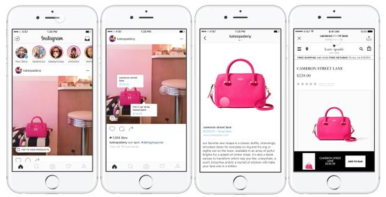 Instagram-Screenshot Shoppable Tags