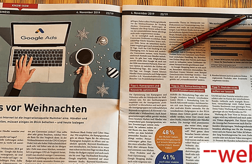 "Google Ads vor Weihnachten: web-netz SEA-Expertin gibt Tipps in ""Internet World Business"""