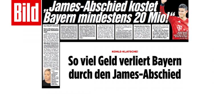 James-Abschied kostet dem FC mindestens 20 Mio. Euro